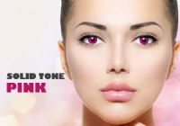 Solid Tone Pink Contacts - 90 Day